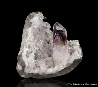 Quartz var. Amethyst and Smoky