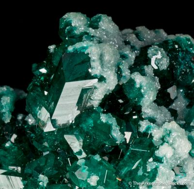 Dioptase with Zincian Dolomite