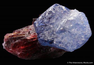 Sapphire on Spessartine Garnet