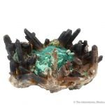 Malachite with Quartz