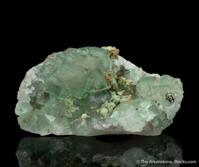 Fluorite with Adamite
