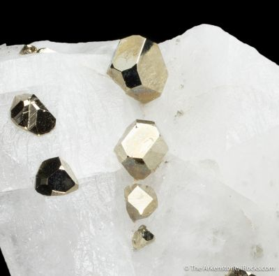 Pyrite on Calcite (twinned)