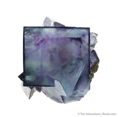Fluorite with Arsenopyrite