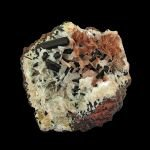 Chalcocite (twinned) on Calcite