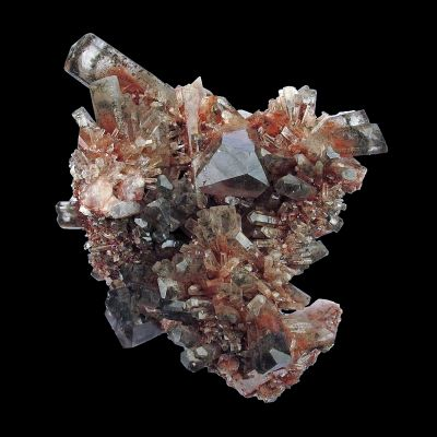 Calcite (fluorescent) with Hematite