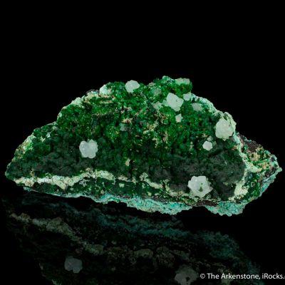 Conichalcite and Chalcoalunite with Calcite