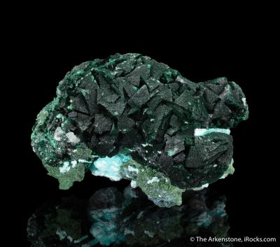 Primary Malachite on Chrysocolla
