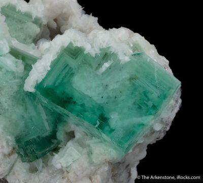 Fluorite with Calcite