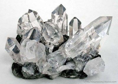 Quartz (Optical Quality) on Hematite