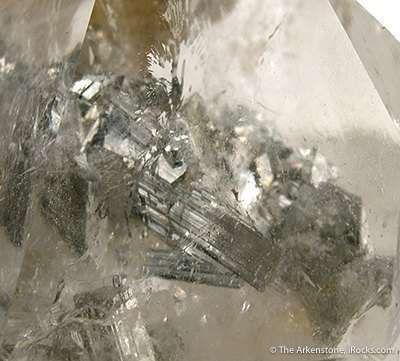 Arsenopyrite Included in Quartz