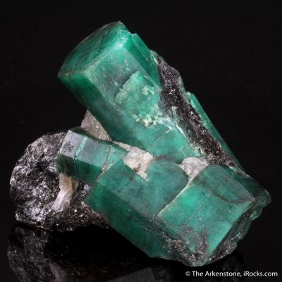 Emerald with Biotite and Graphite