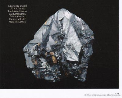 Cassiterite (twinned) -  (illustrated)