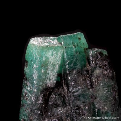 Emerald with Biotite and Graphite (illustrated)