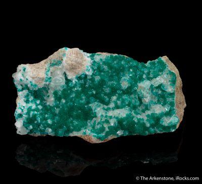 Dioptase on Calcite