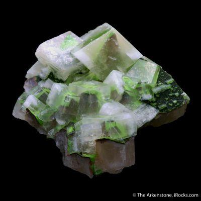 Calcite with Duftite & Hematite phantoms
