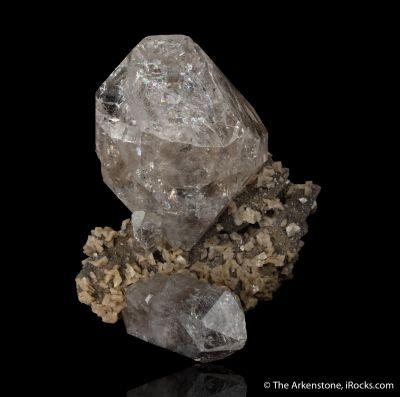Quartz 'Herkimer Diamond' and Dolomite