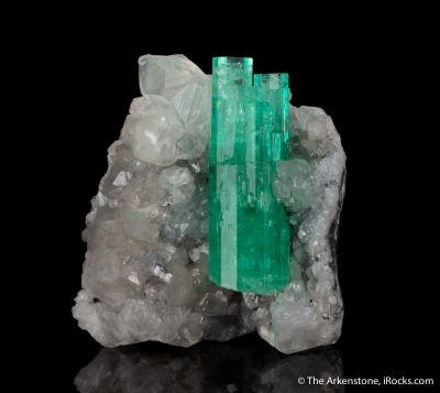 Emerald With Calcite