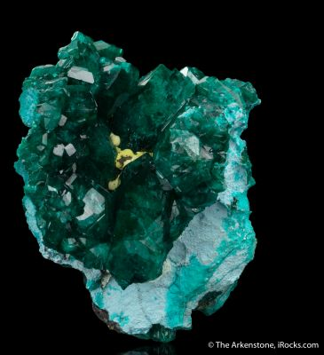 Dioptase with Shattuckite and Chrysocolla