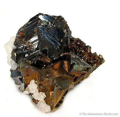 Sphalerite on Chalcopyrite and Quartz
